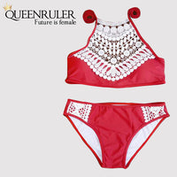 Sexy Brazilian Bikini (Lace Red) - Queenruler