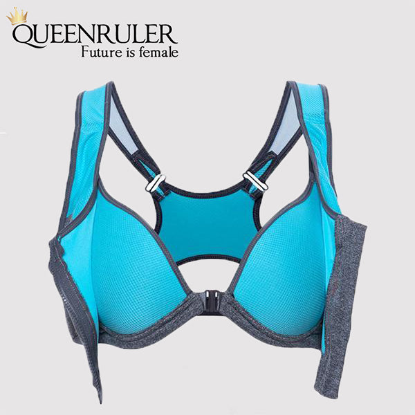 Professional Zipper Bra (Blue) - Queenruler