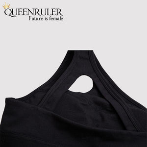 One Shoulder Sports Bra (Purple) - Queenruler