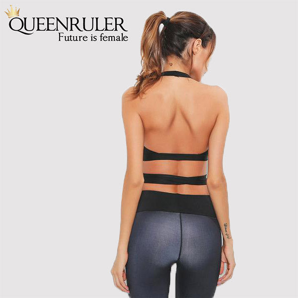 Suspender Type Crop Top (Black) - Queenruler