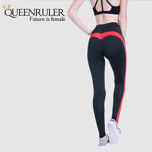Hot Red Stripe Leggings - Queenruler