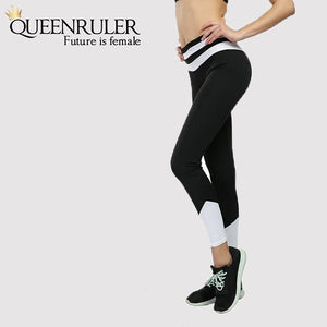 Quick Dry Running Leggings (Black) - Queenruler
