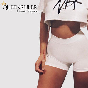 Queenruler Sexy Athletic Shorts (Khaki) - Queenruler