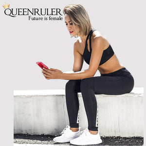 Sexy One Shoulder Sports Bra (Black) - Queenruler