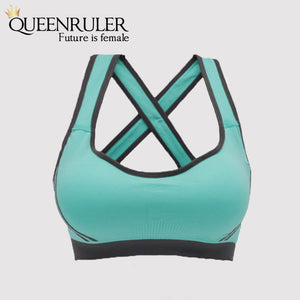 Breathable Fitness Bra (Light Green) - Queenruler