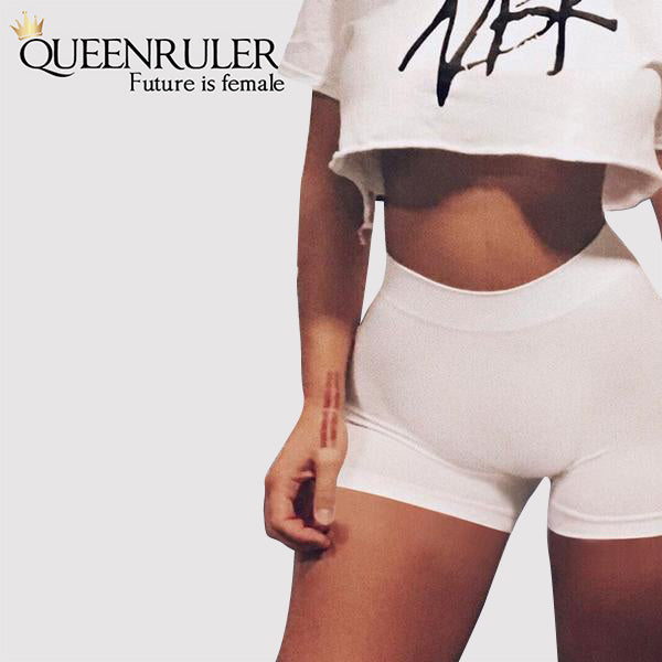 Queenruler Sexy Athletic Shorts (Sky Blue) - Queenruler
