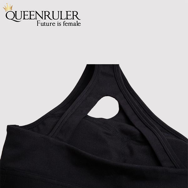 Sexy One Shoulder Sports Bra (Pink) - Queenruler