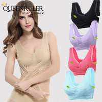 Women Yoga Lace Bra (Nude) - Queenruler