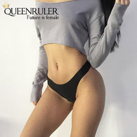 Mermaid Seamless Panties (Black) - Queenruler