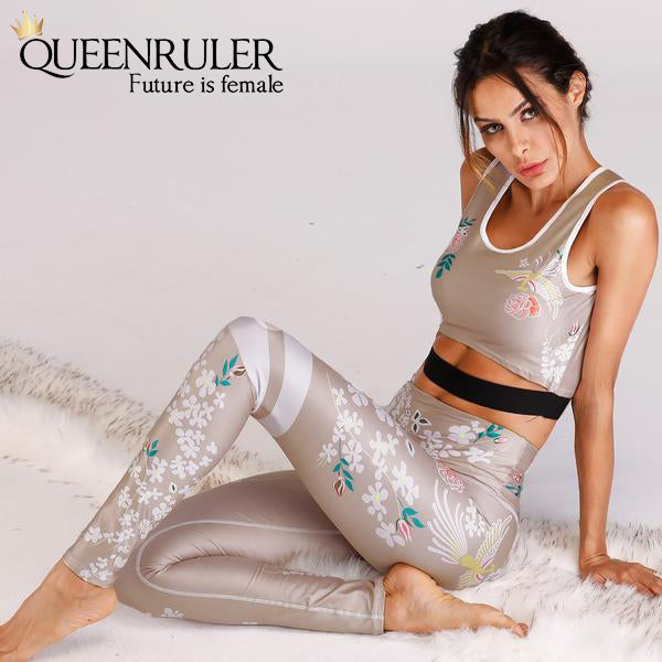 Sexy Women Retro Yoga Set - Queenruler