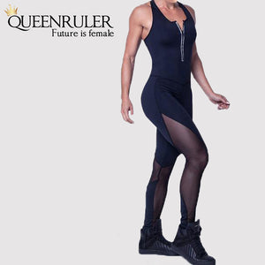 Yoga Tracksuit (Black) - Queenruler