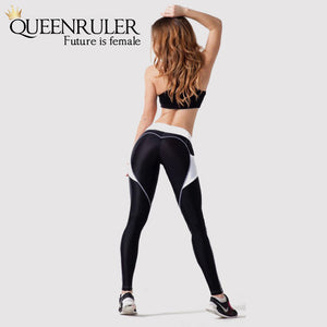 Casual Heart Shape Leggings - Queenruler