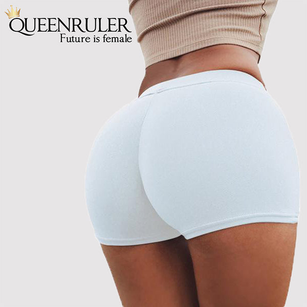 Queenruler Sexy Athletic Shorts (White) - Queenruler