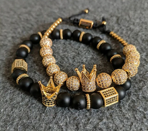 Handmade luxury King's Crown Bracelet