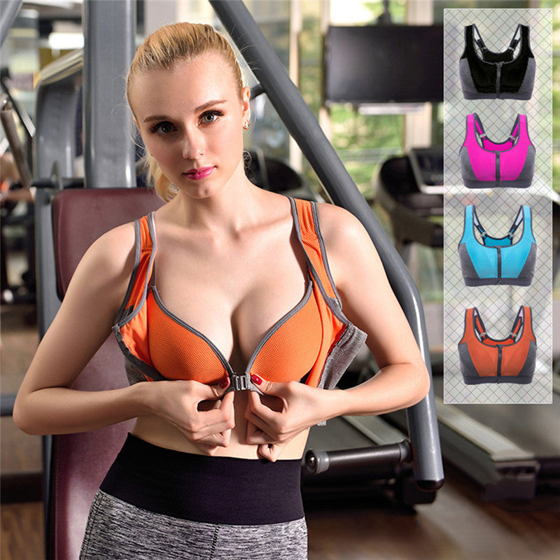Professional Zipper Bra (Orange) - Queenruler