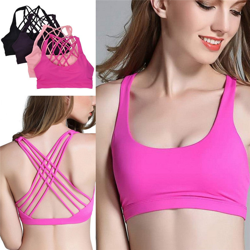 Sexy Yoga Bra (Pink) - Queenruler