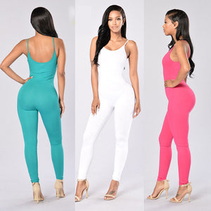 Quick-Dry Athletic Jumpsuit (White) - Queenruler