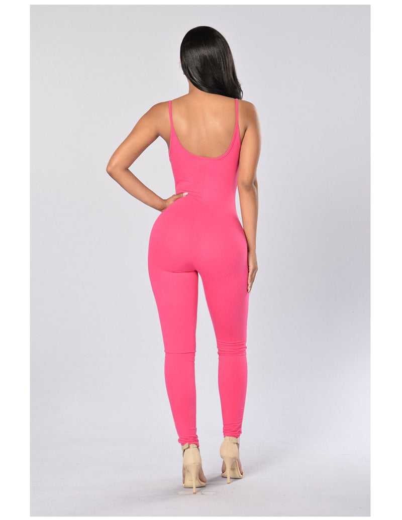 Quick-Dry Athletic Jumpsuit (Rose Red) - Queenruler