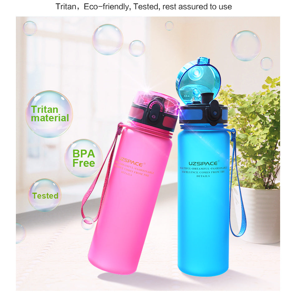 Portable Fitness Bottle (Blue) - Queenruler