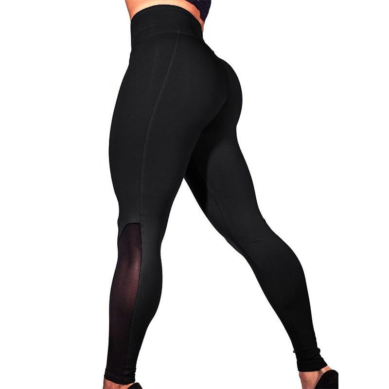 High Waist Push Up Leggings (Black) - Queenruler