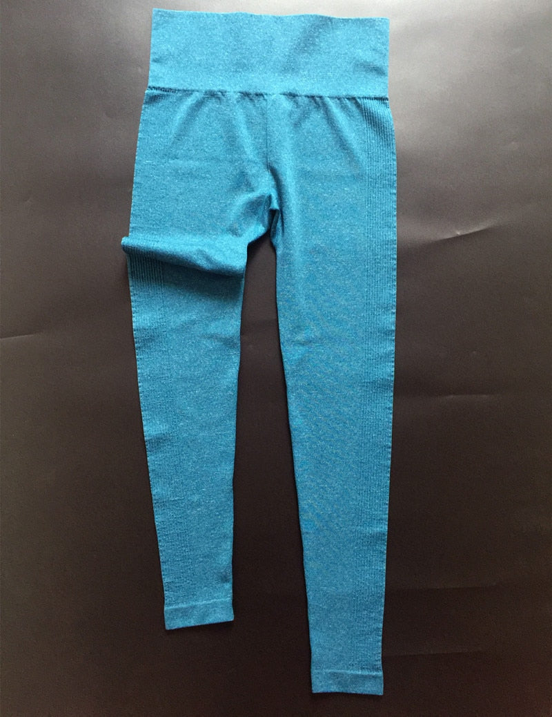 Quick Dry Yoga Pants (Blue) - Queenruler