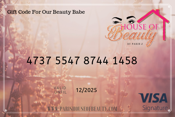 Paris House Of Beauty Gift Card