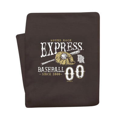 Round Rock Express Brown Berm Blanket Small