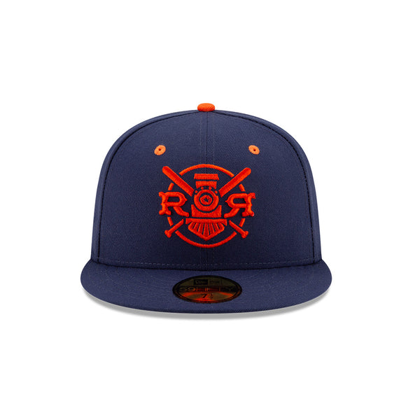 Round Rock Express New Era Faux Navy 5950 Fitted Cap
