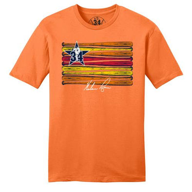 Round Rock Express Nolan Ryan Foundation Rainbow Bats Tee