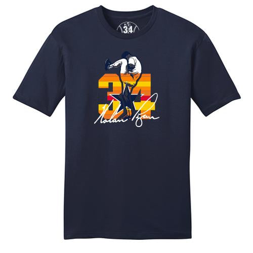 Round Rock Express Nolan Ryan Foundation Navy Sunrise Tee