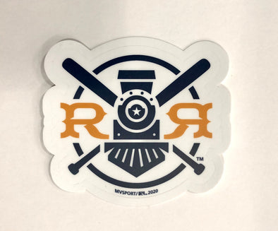 Round Rock Express Fauxback logo Sticker