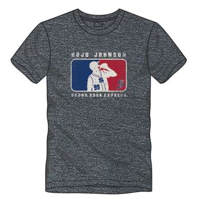 Round Rock Express Rojo Johnson Retro Tee