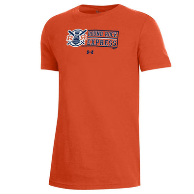 Round Rock Express Youth Under Armour Performance Cotton Orange Faux