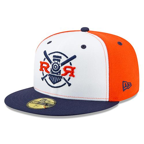Round Rock Express Fauxback 2020 Onfield Fitted 5950 White Front