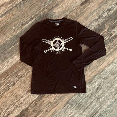 Round Rock Express New Era Series Performance Long Sleeve Tee in Black