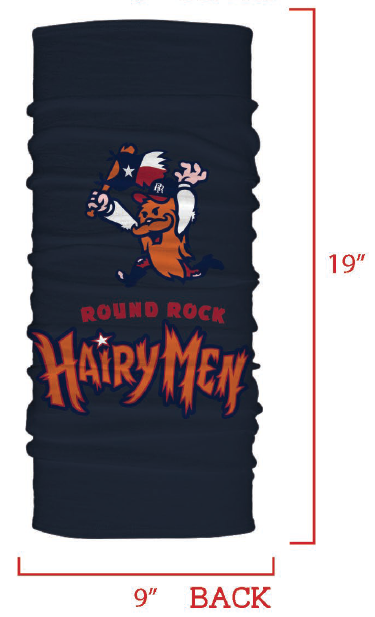 Round Rock Hairy Men Poly Neck Gaiter & Face Covering