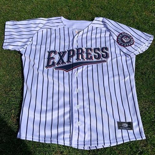 Round Rock Express 2019 Home Pinstripe Replica Tackle Twill Jersey