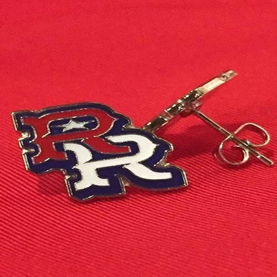 Round Rock Express RR Away Logo Post Earrings