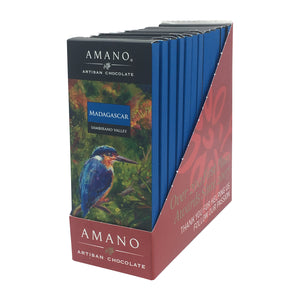 Amano Artisan Chocolate - 1 Case (12 Bars) Madagascar 70%
