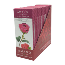 Load image into Gallery viewer, Amano Artisan Chocolate - 1 Case (12 Bars) Raspberry Rose 55%