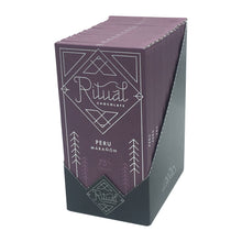 Load image into Gallery viewer, Ritual Chocolate - 1 Case (12 Bars) Ritual Chocolate Peru Maranon 75%, 2.12 OZ x 12