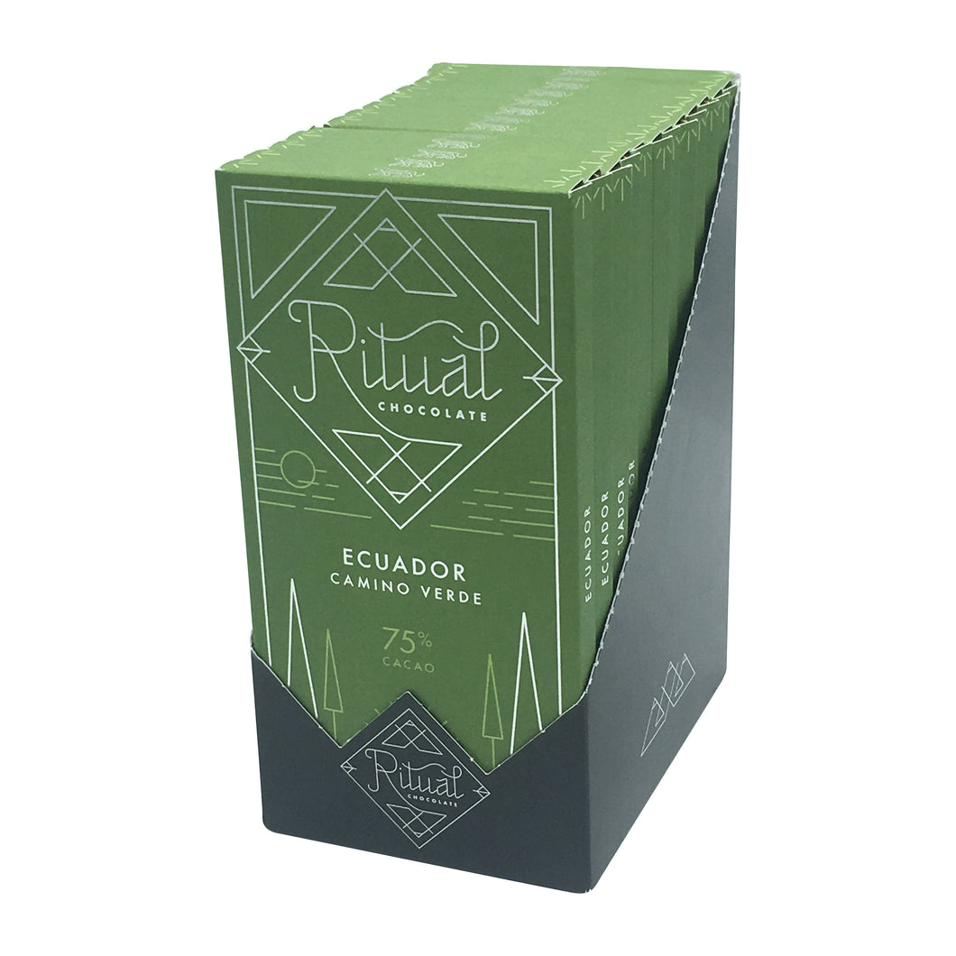 Ritual Chocolate - 1 Case (12 Bars) Ritual Chocolate Balao Single Origin 75%, 2.12 OZ x 12