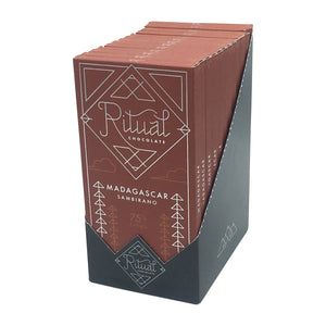 Ritual Chocolate - 1 Case (12 Bars) Ritual Chocolate Dark Single Origin Madagascar 75%, 2.12 OZ x 12