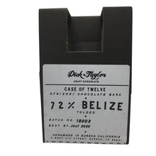 Load image into Gallery viewer, Dick Taylor Chocolate - 1 Case (12 Bars) 72% Belize