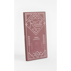 Ritual Chocolate - 1 Case (12 Bars) Ritual Chocolate Peru Maranon 75%, 2.12 OZ x 12