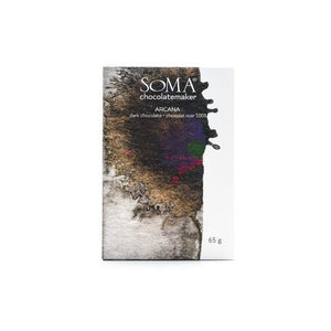 SOMA Chocolatemaker - 1 Case (12 Bars) Arcana, Porcelana blend, 100% Dark Chocolate
