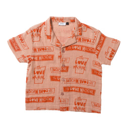CAMP COLLAR SHIRT PINK/CORAL