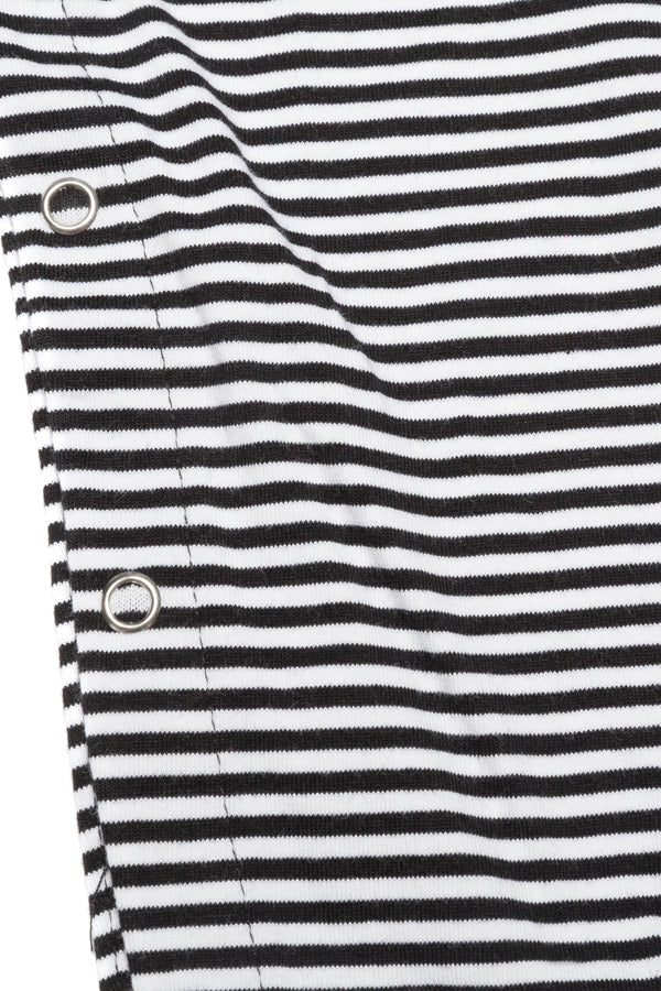SALOPETTE B/W STRIPES