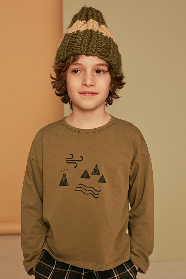 KIDS ON THE MOON BEANIE khaki/beige