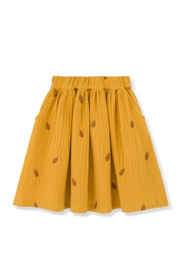 KIDS ON THE MOON GOLDEN LEAVES SKIRT